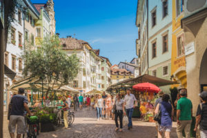 The Fruit market in the capital city Bolzano