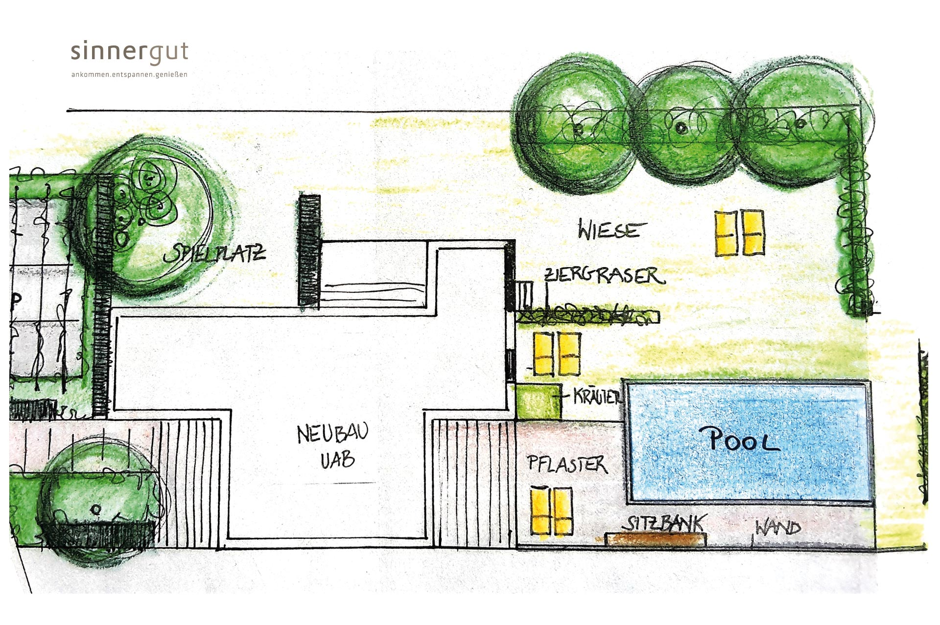 Sketch plan – Sinnergut holiday apartments with swimming ...