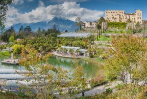 The botanical garden of Castle Trauttmansdorff in Merano